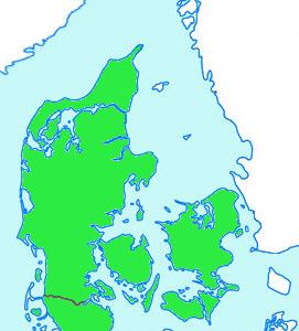 Nordjylland Østjylland Vestjylland Sønderjylland Fyn Sjælland Lolland/Falster/Møn Tyskland