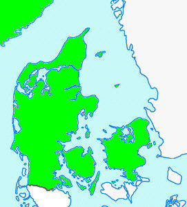 Nordjylland Østjylland Vestjylland Sønderjylland Fyn Sjælland Norge