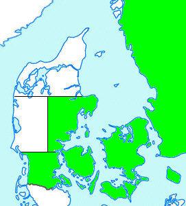 Østjylland Sønderjylland Fyn Sjælland Lolland/Falster/Møn Bornholm Sverige